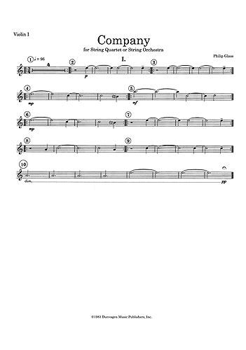 Philip Glass: String Quartet No.2 'Company': String Quartet: Instrumental Work