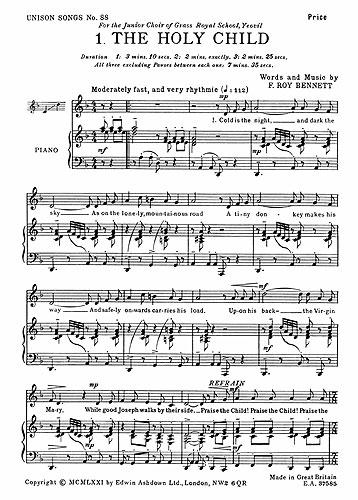 F. Roy Bennett: 3 Christmas Carols: Mixed Choir: Vocal Album