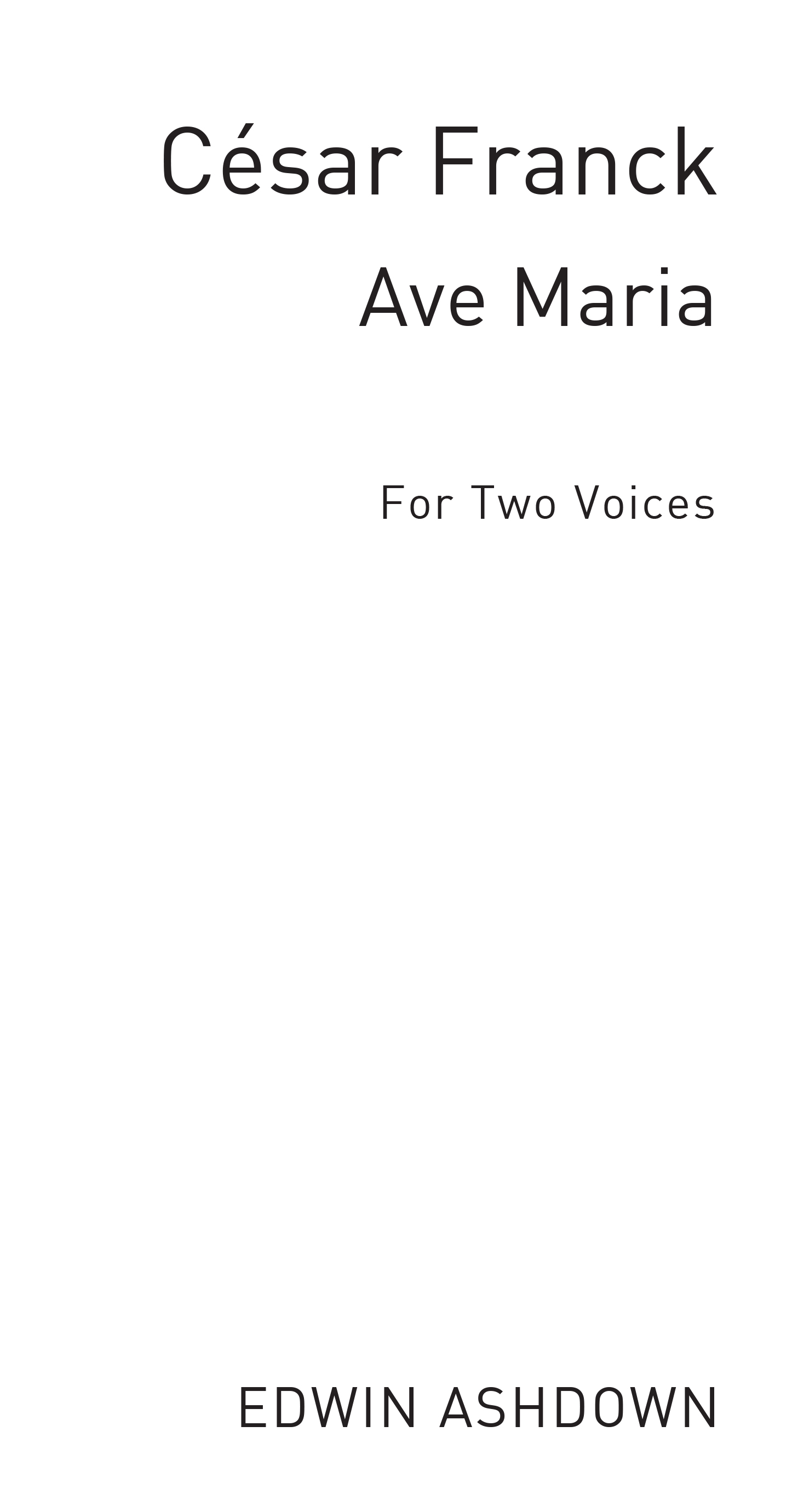 César Franck: Ave Maria: Piano: Vocal Work