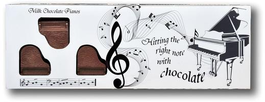 Belgian Milk Chocolate Box Of Pianos - 8
