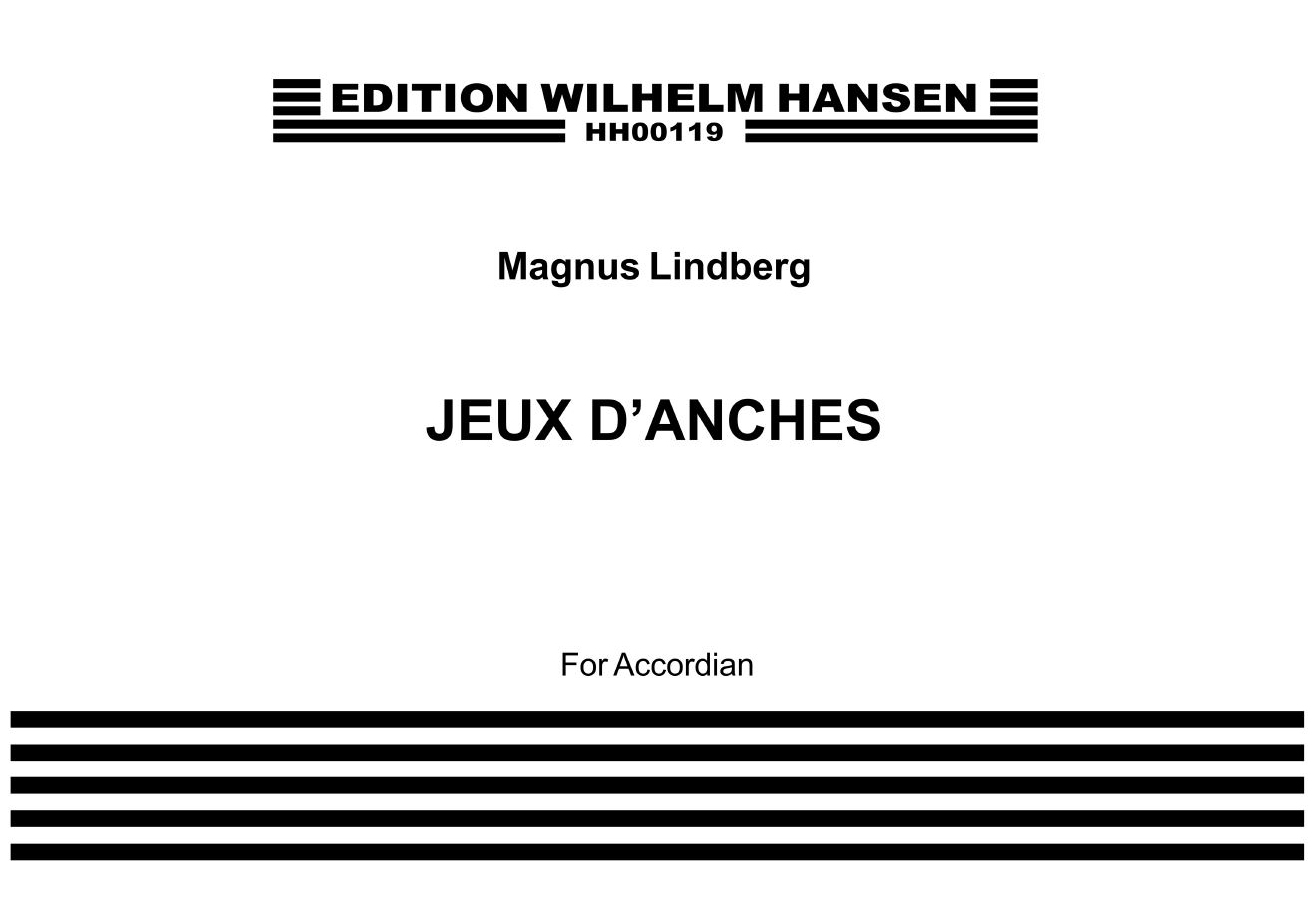 Magnus Lindberg: Jeux D'Anches: Accordion: Instrumental Work