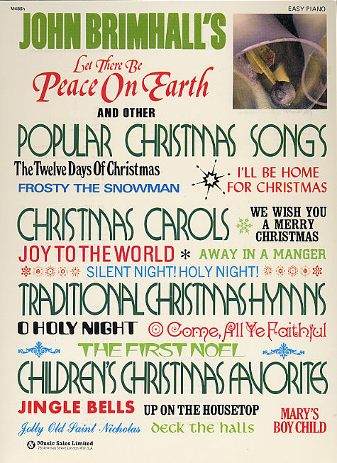 Robbie Williams: Let there be Peace on Earth: Piano  Vocal  Guitar: Mixed