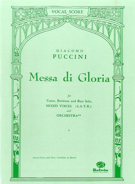 Giacomo Puccini: Messa di Gloria (vocal score): SATB: Vocal Score