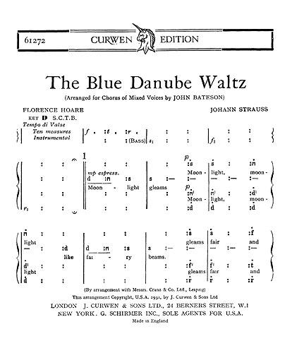 Johann Strauss: The Blue Danube Waltz: SATB: Vocal Score