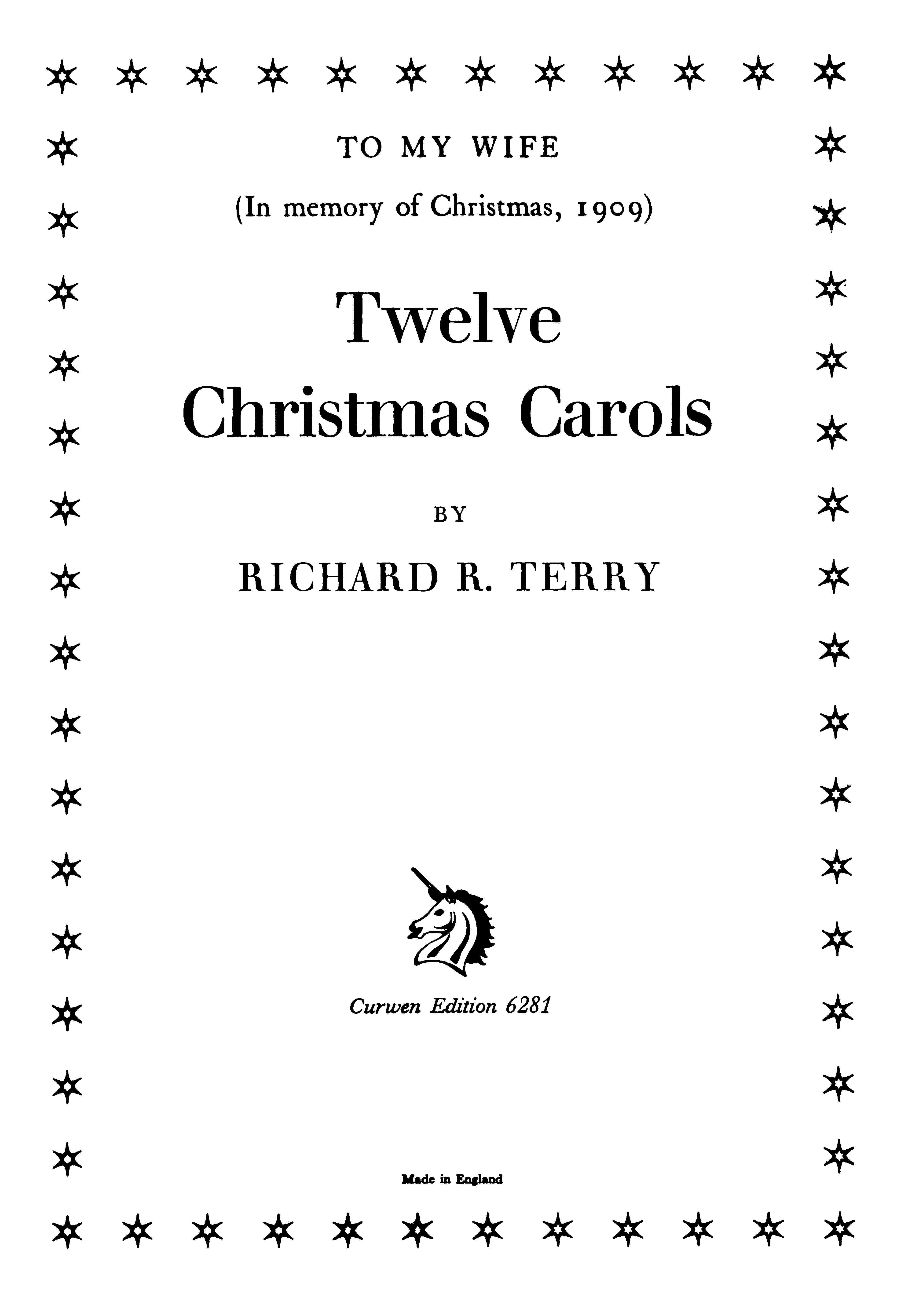 R. R. Terry: Twelve Christmas Carols: SATB: Vocal Score