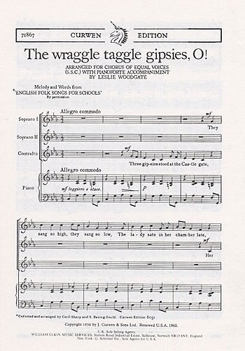Leslie Woodgate: The Wraggle Taggle Gipsies  O!: SSA: Vocal Score