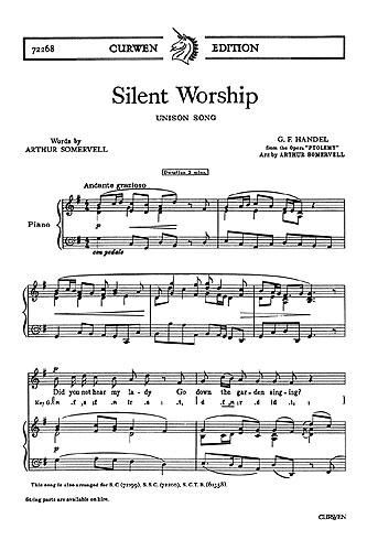 Georg Friedrich Händel: Silent Worship: Unison Voices: Vocal Score