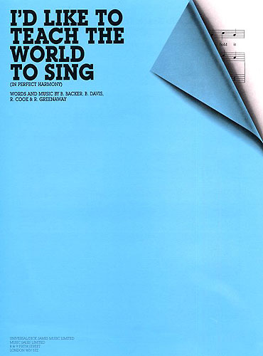 New Seekers: I'd Like To Teach The World To Sing (PVG): Piano  Vocal  Guitar: