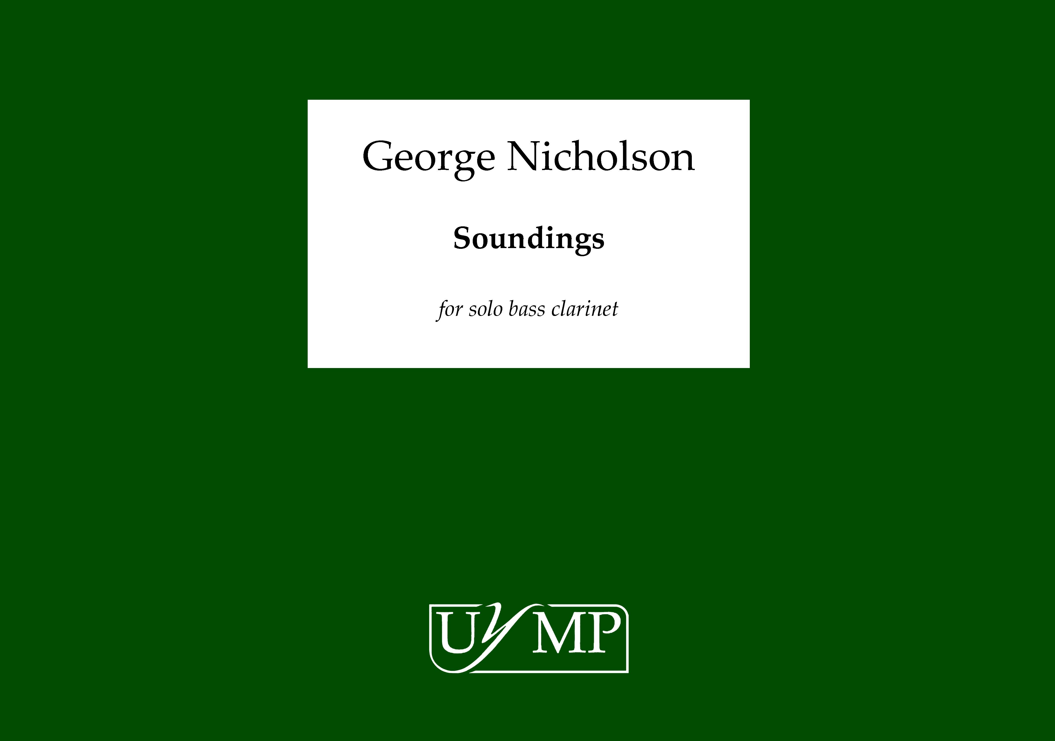 George Nicholson: Soundings: Bass Clarinet: Instrumental Work