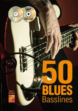 50 Blues Basslines (1 Book + 1 CD + 1 DVD)