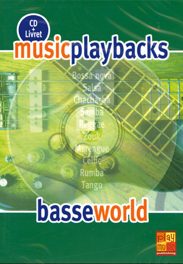 Music Playbacks CD : Basse World: Bass Guitar: Backing Tracks