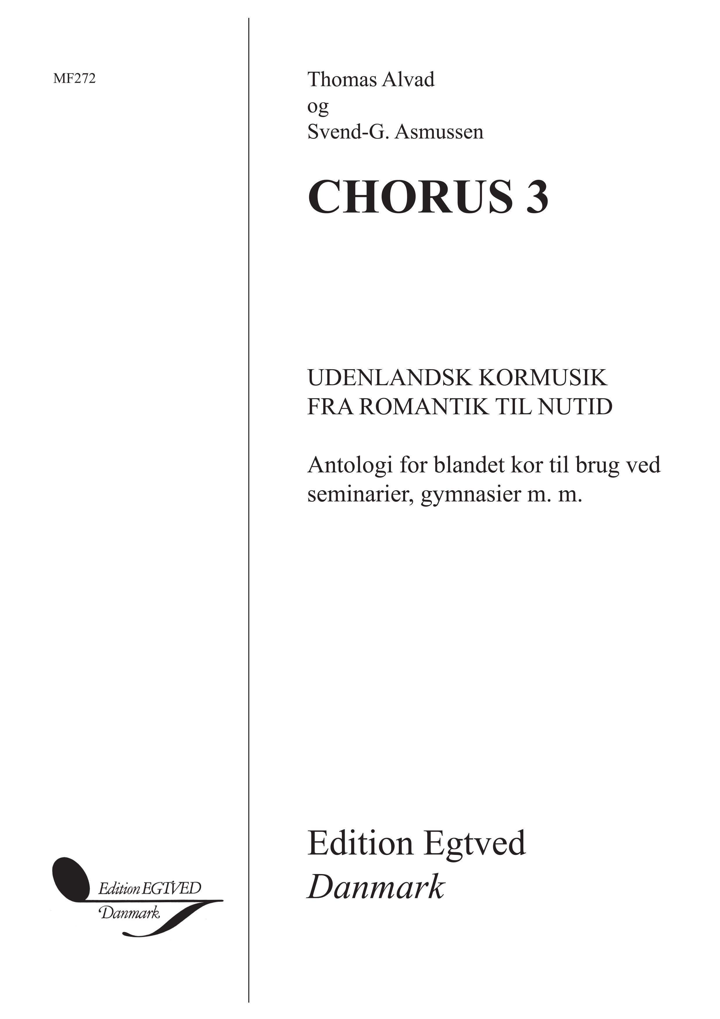 Blandet Kor Antologi: Chorus 3: SATB: Vocal Album