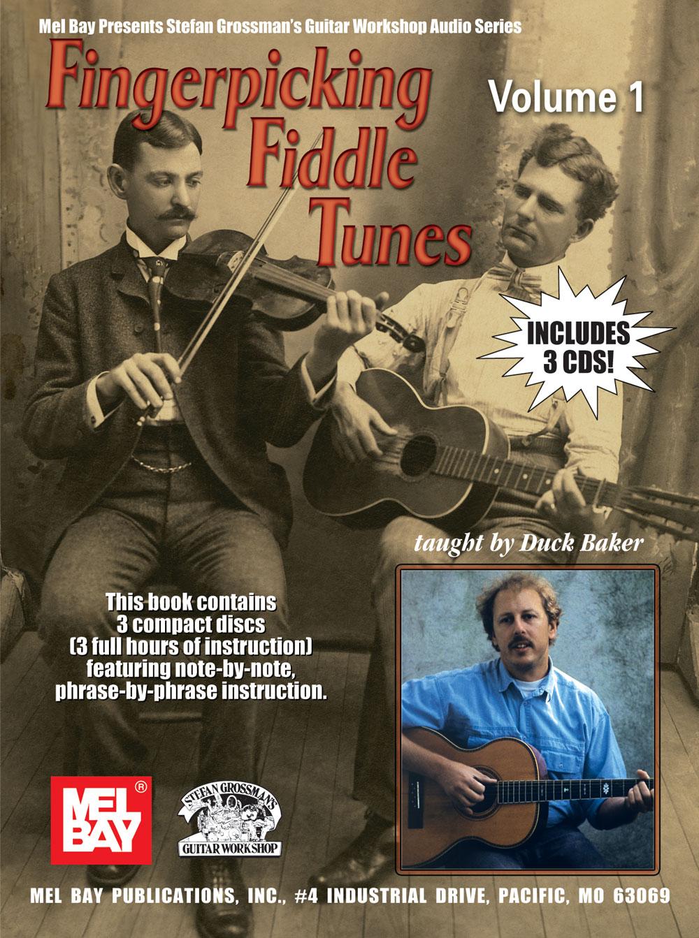 Duck Baker: Fingerpicking Fiddle Tunes: Volume 1: Guitar: Instrumental Tutor