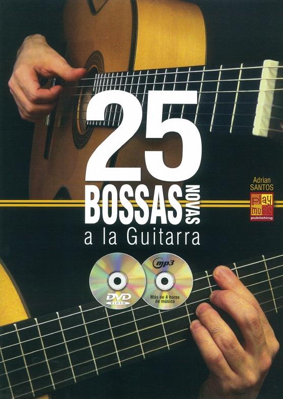 Adrian Santos: 25 Bossas Novas A La Guitarra: Guitar: Instrumental Album