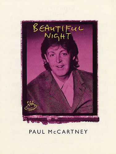 Paul McCartney: Beautiful Night For Piano  Vocals and Guitar.: Piano  Vocal