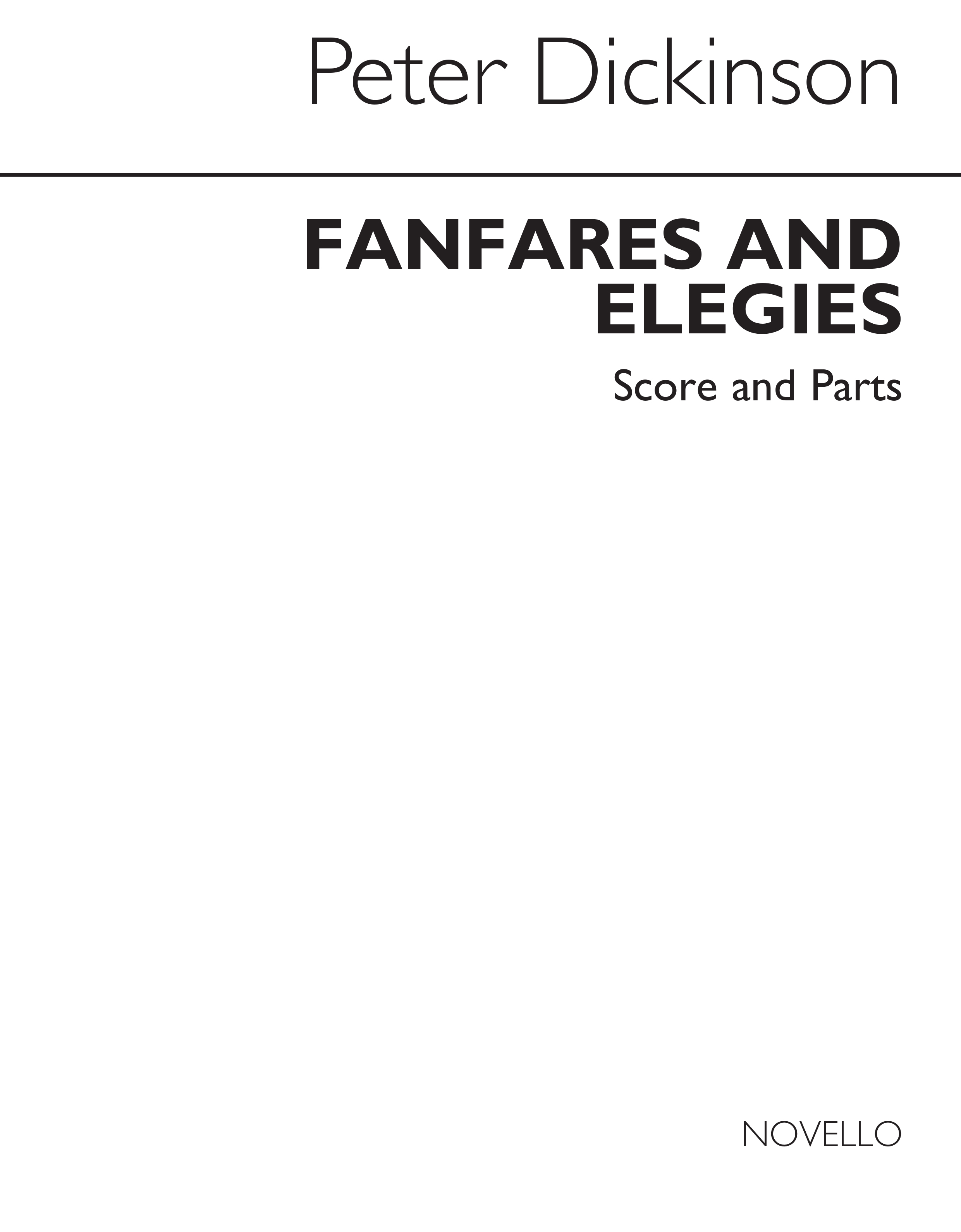 Peter Dickinson: Fanfares And Elegies: Brass Ensemble: Score and Parts