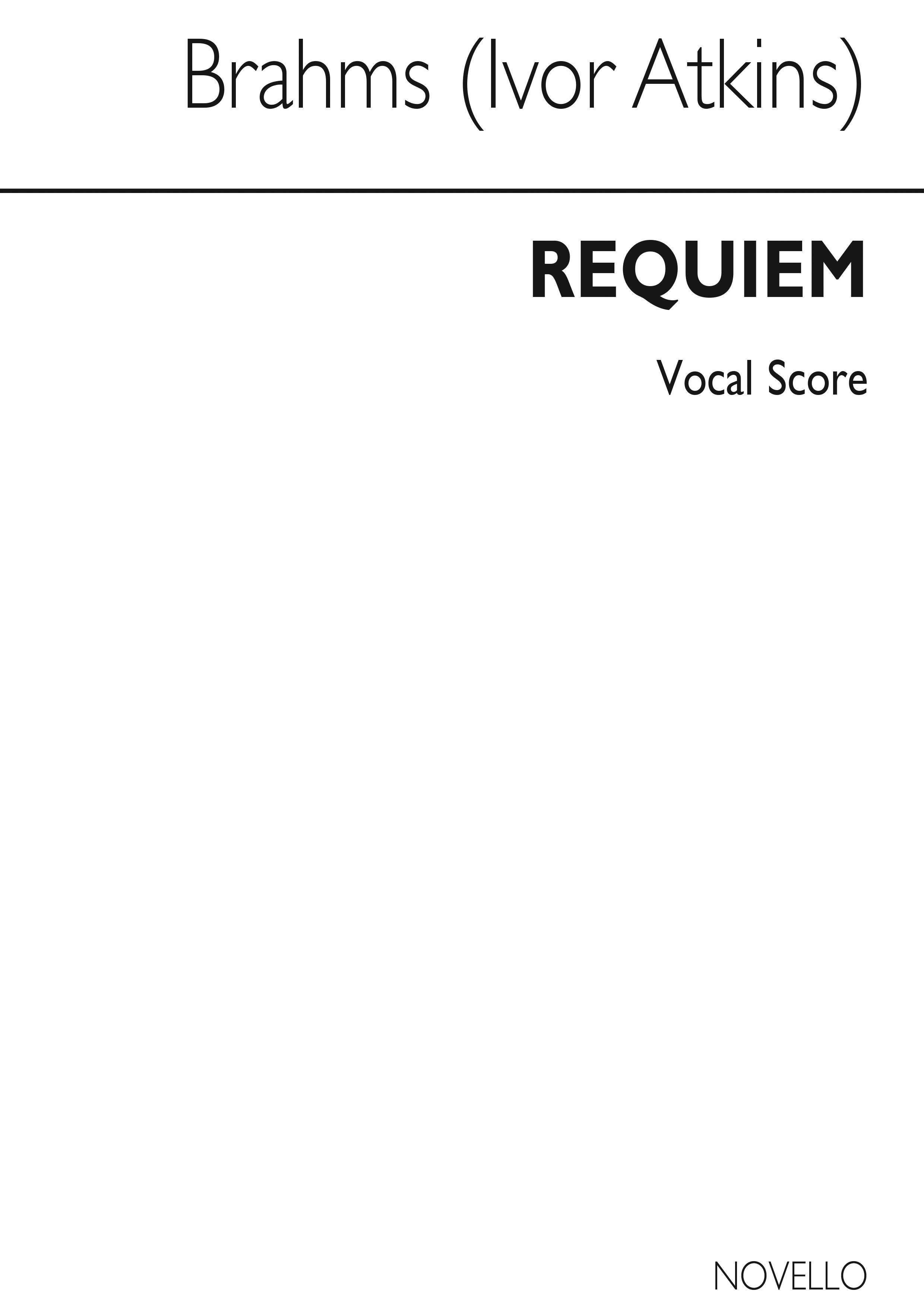 Johannes Brahms: Requiem Op.45 (Novello Vocal Score): SATB: Vocal Score