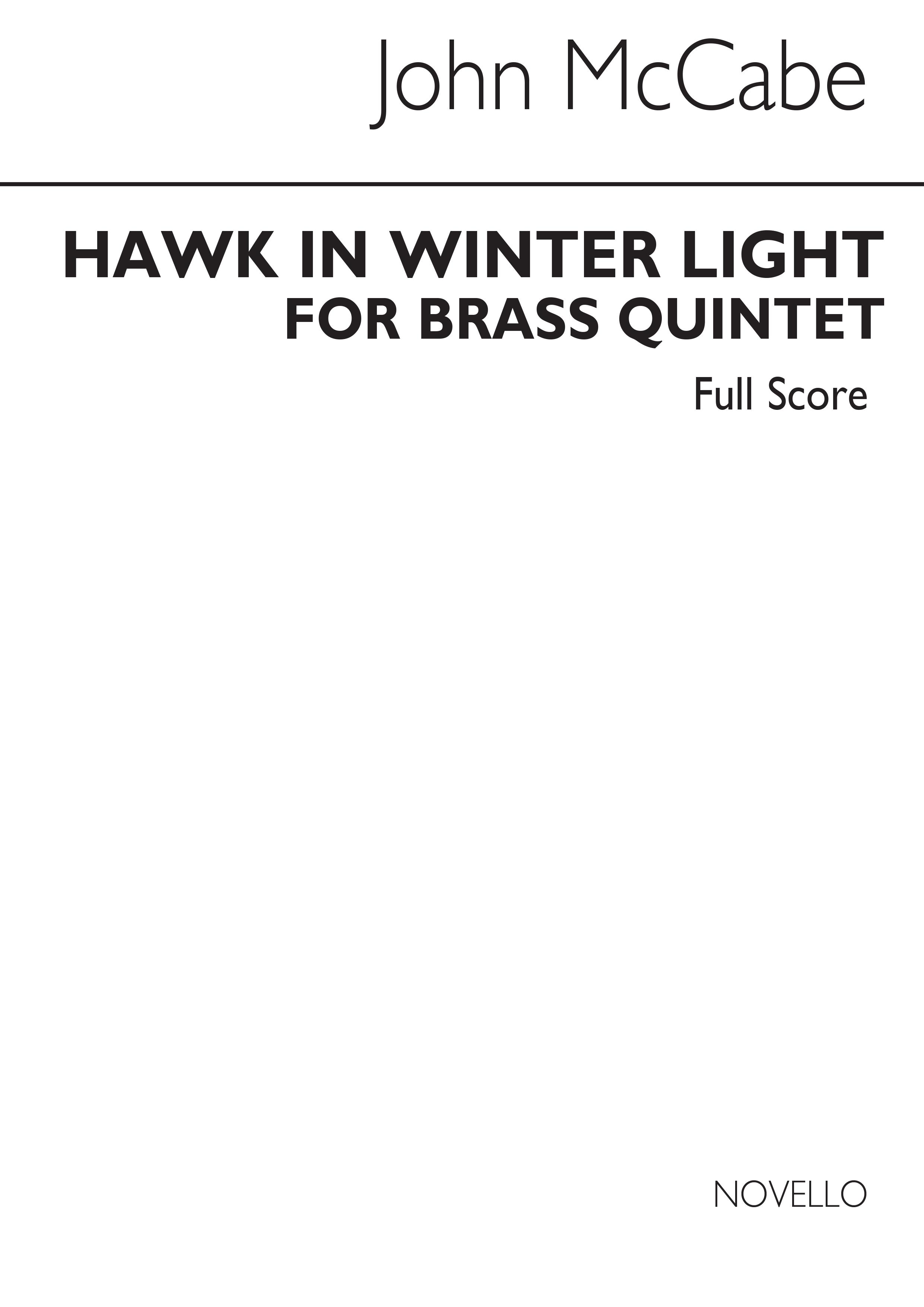 John McCabe: Hawk In Winter Light: Brass Ensemble: Score