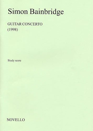 Simon Bainbridge: Guitar Concerto: Guitar Ensemble: Score