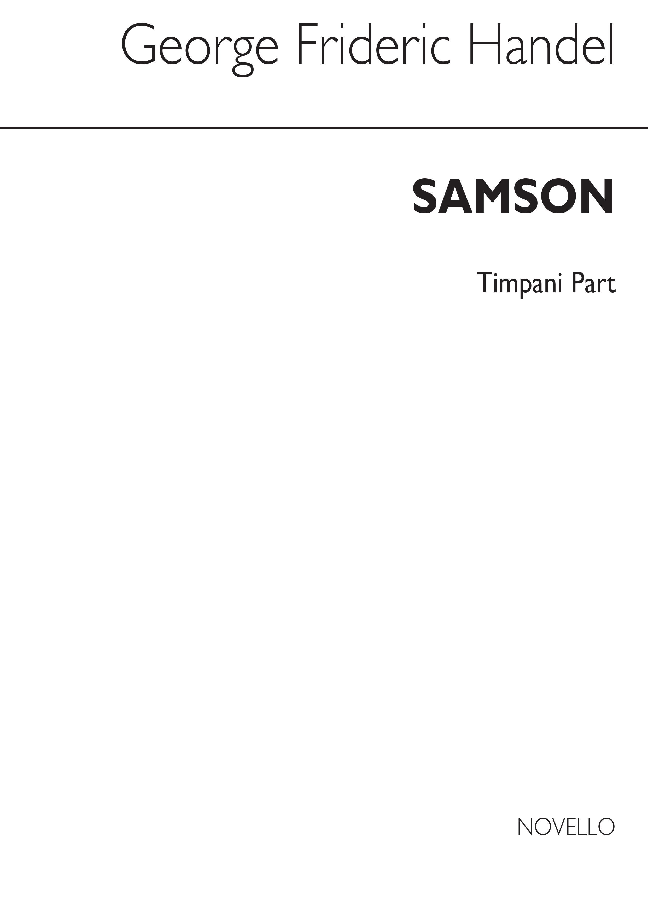 Georg Friedrich Händel: Samson (Timpani Part): Opera: Part