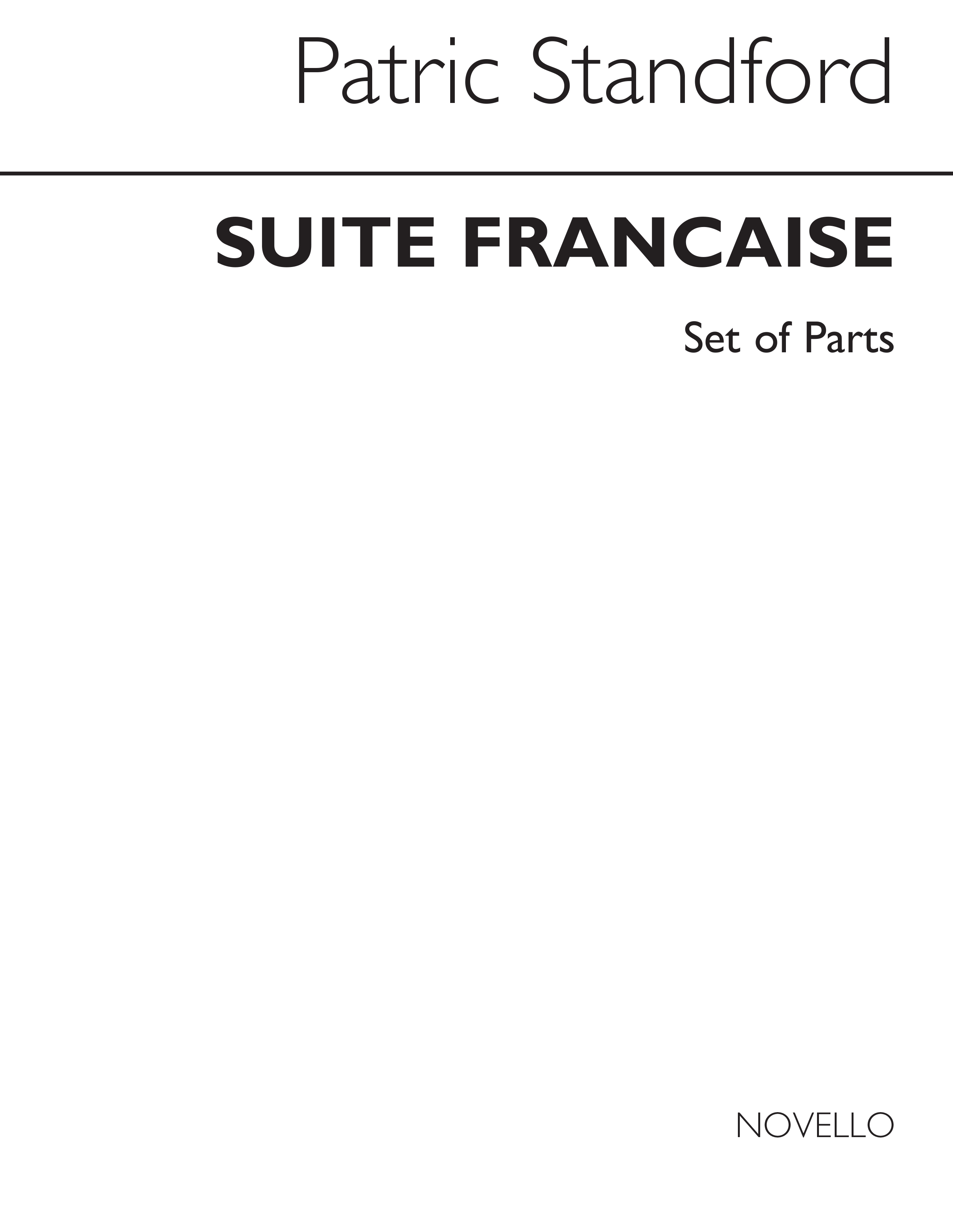 Patric Standford: Standford Suite Francaise For Wind Quintet Parts: Wind