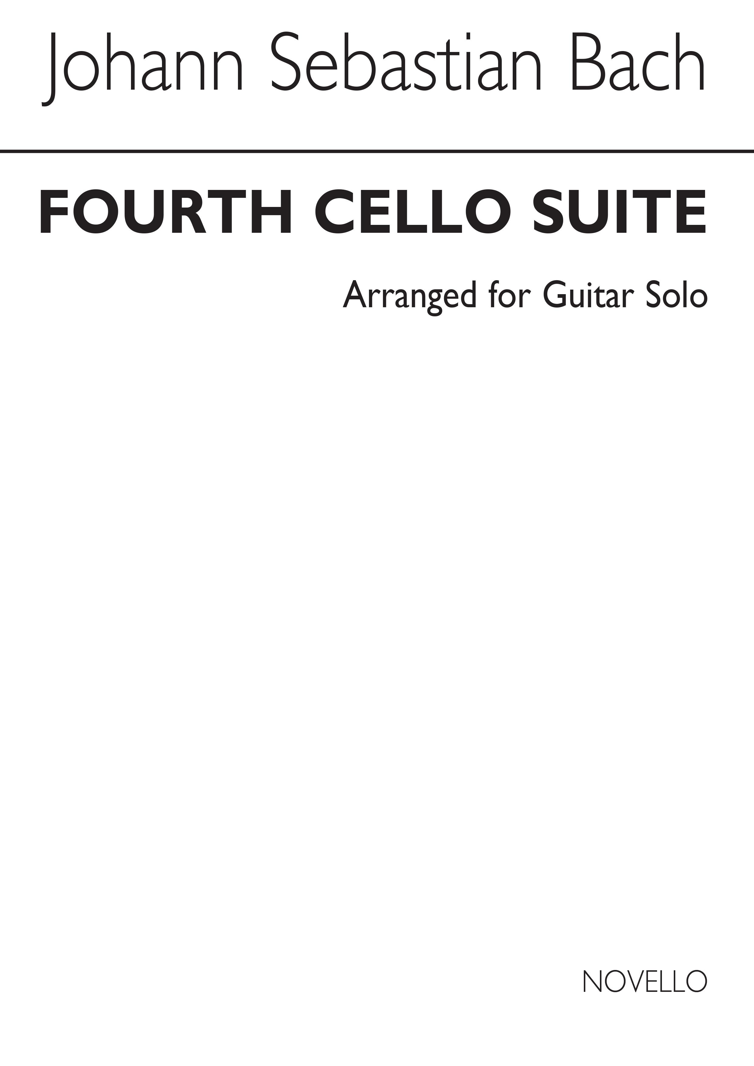 Johann Sebastian Bach: Fourth Cello Suite-BWV1010-Guitar: Guitar: Instrumental