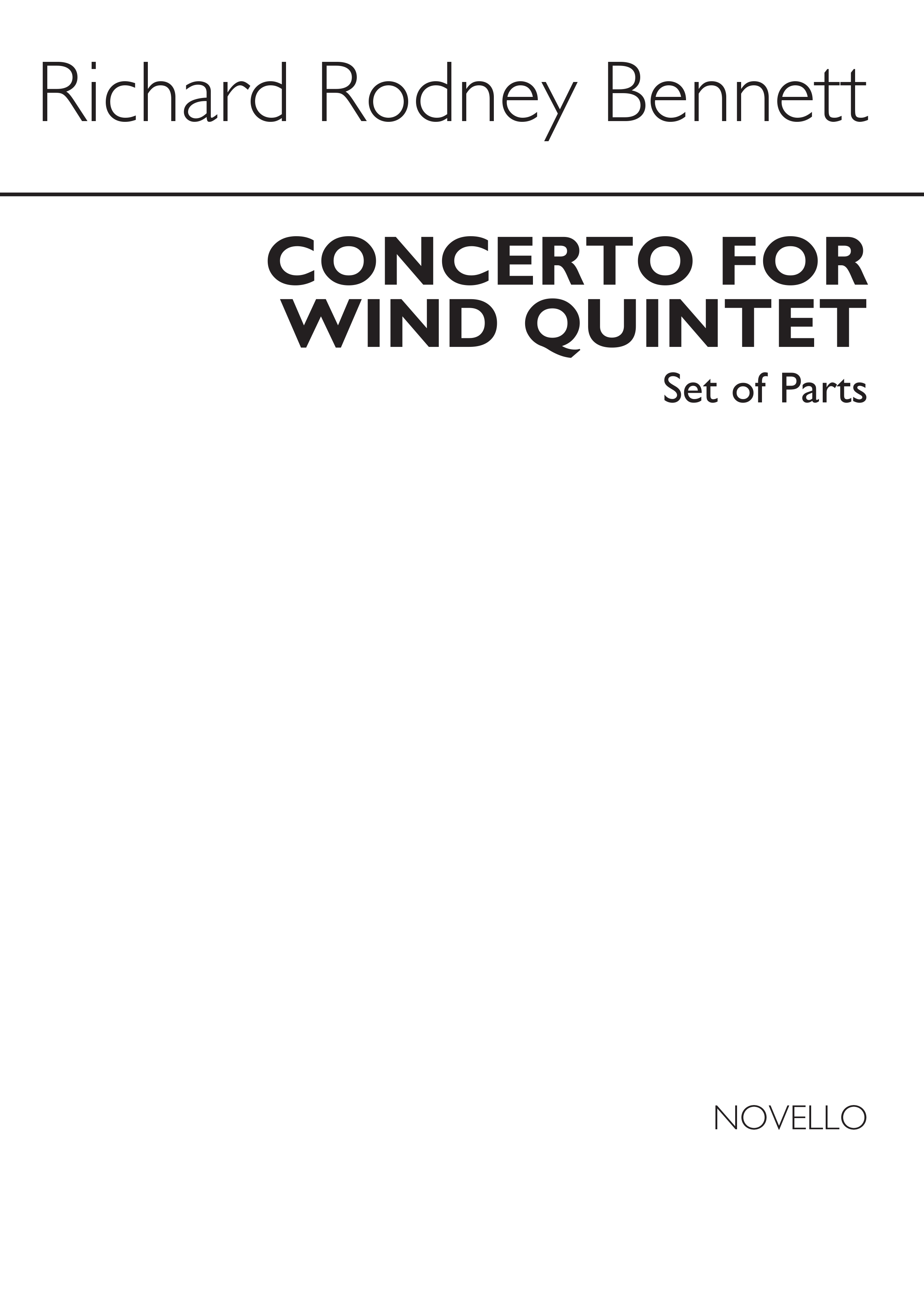 Richard Rodney Bennett: Concerto For Wind Quintet (Parts): Wind Ensemble:
