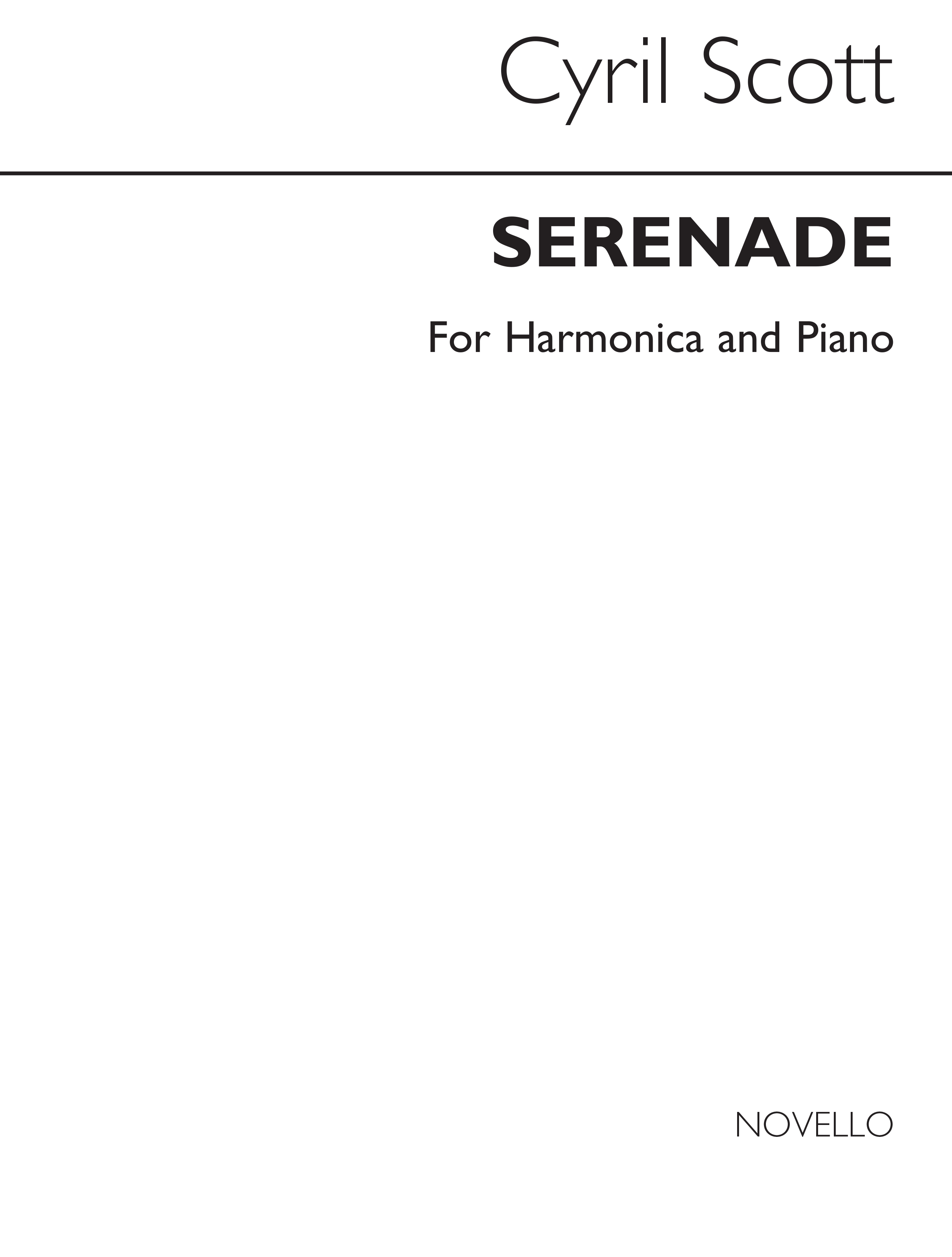 Cyril Scott: Serenade For Mouth Organ And Piano: Harmonica: Instrumental Work