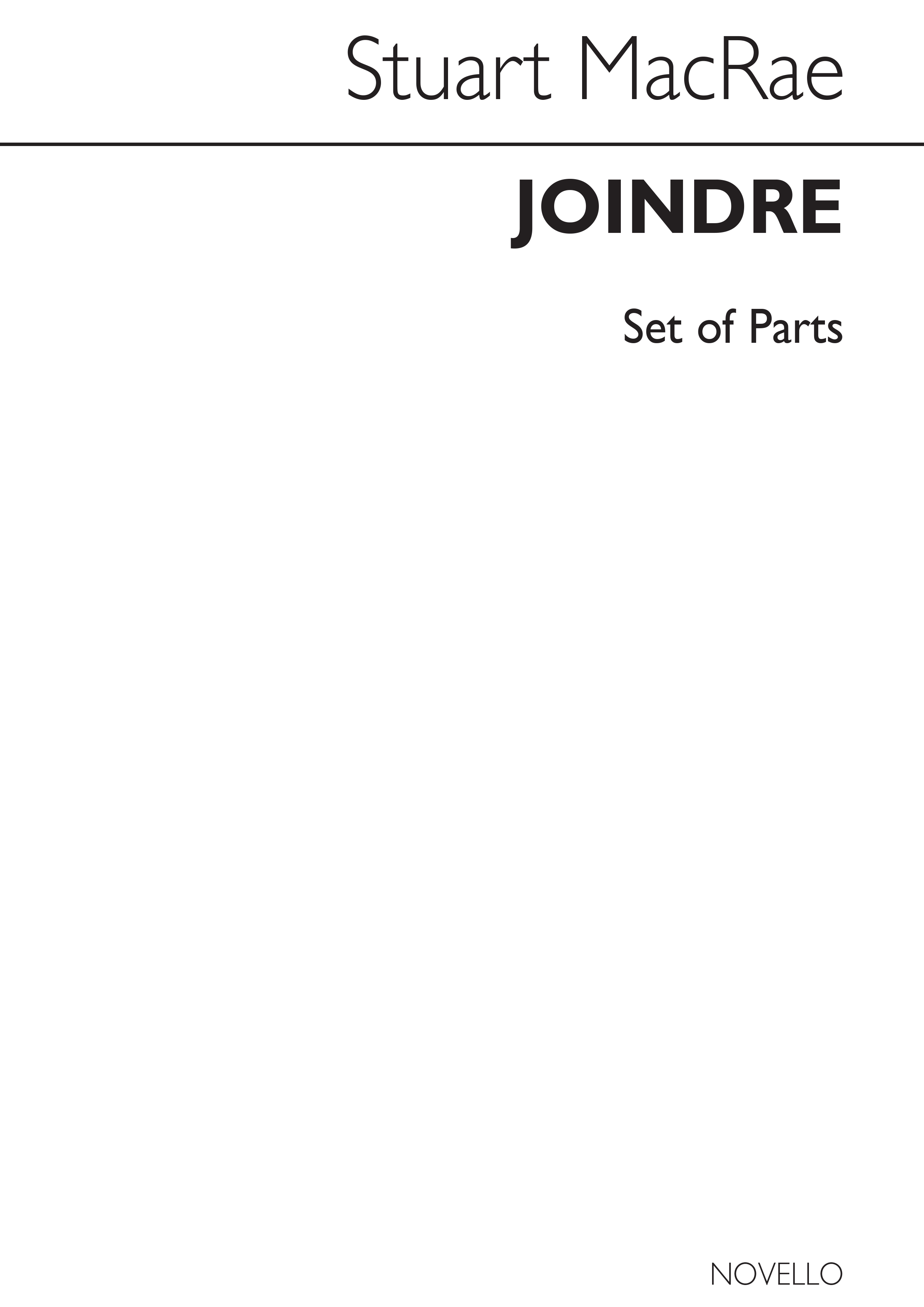Stuart MacRae: Joindre for Woodwind Quintet: Wind Ensemble: Parts