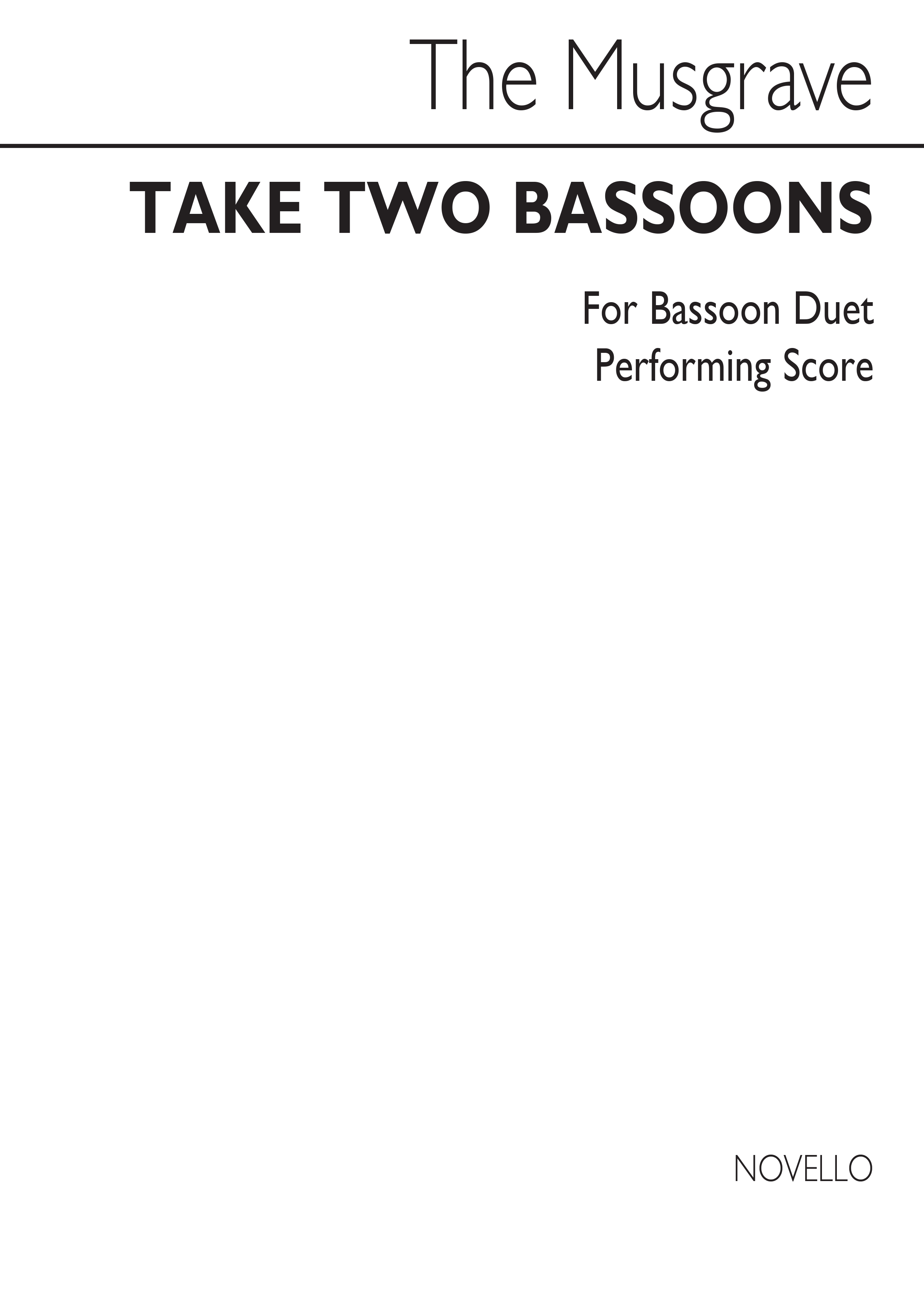 Thea Musgrave: Take Two Bassoons (Bassoon Duet): Bassoon: Parts