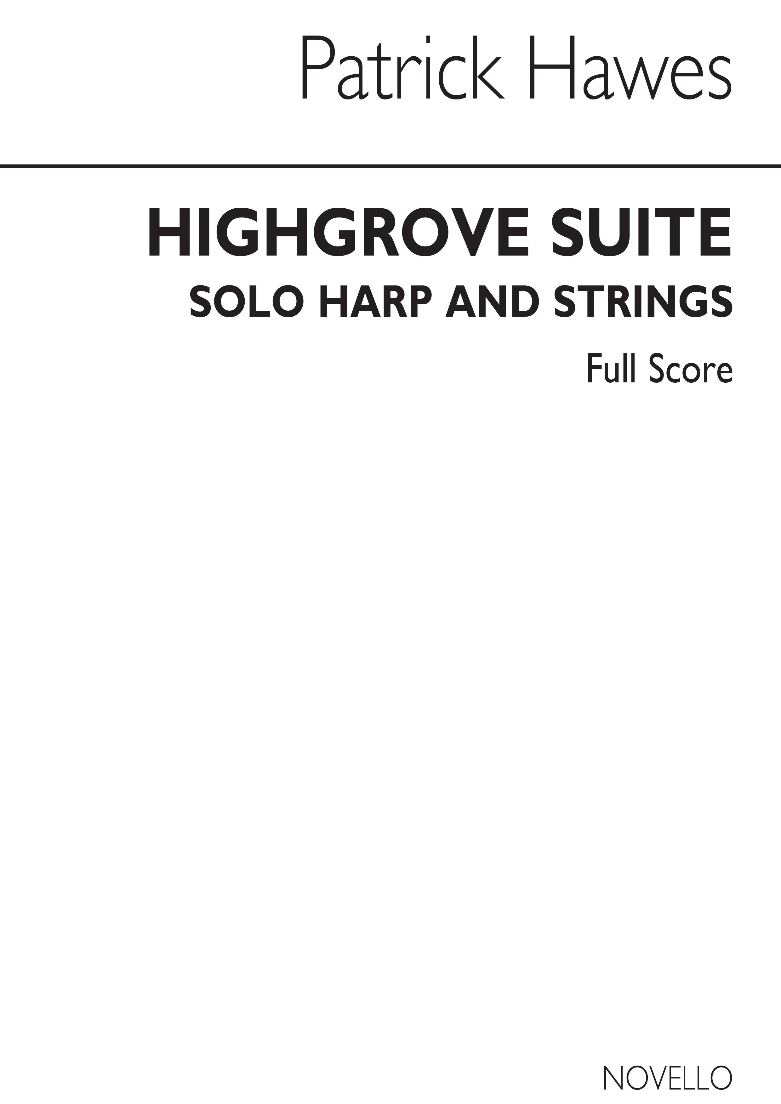 Patrick Hawes: Highgrove Suite: harp: Score