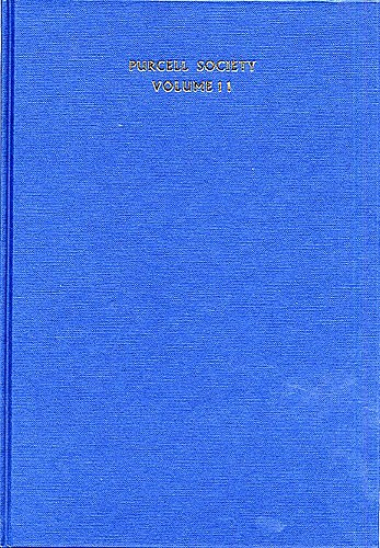 Henry Purcell: Purcell Society Volume 11: SATB: Score