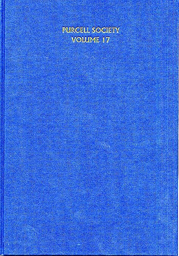 Henry Purcell: Purcell Society Volume 17: SATB: Score