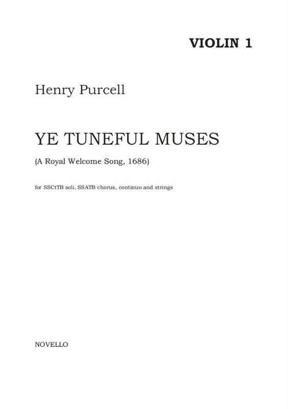 Henry Purcell: Ye Tuneful Muses  Raise Your Heads: Continuo: Parts