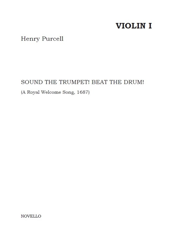 Henry Purcell: Sound The Trumpet! Beat The Drum!: Continuo: Parts