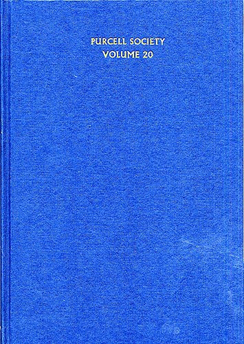 Henry Purcell: Purcell Society Volume 20: Opera: Score