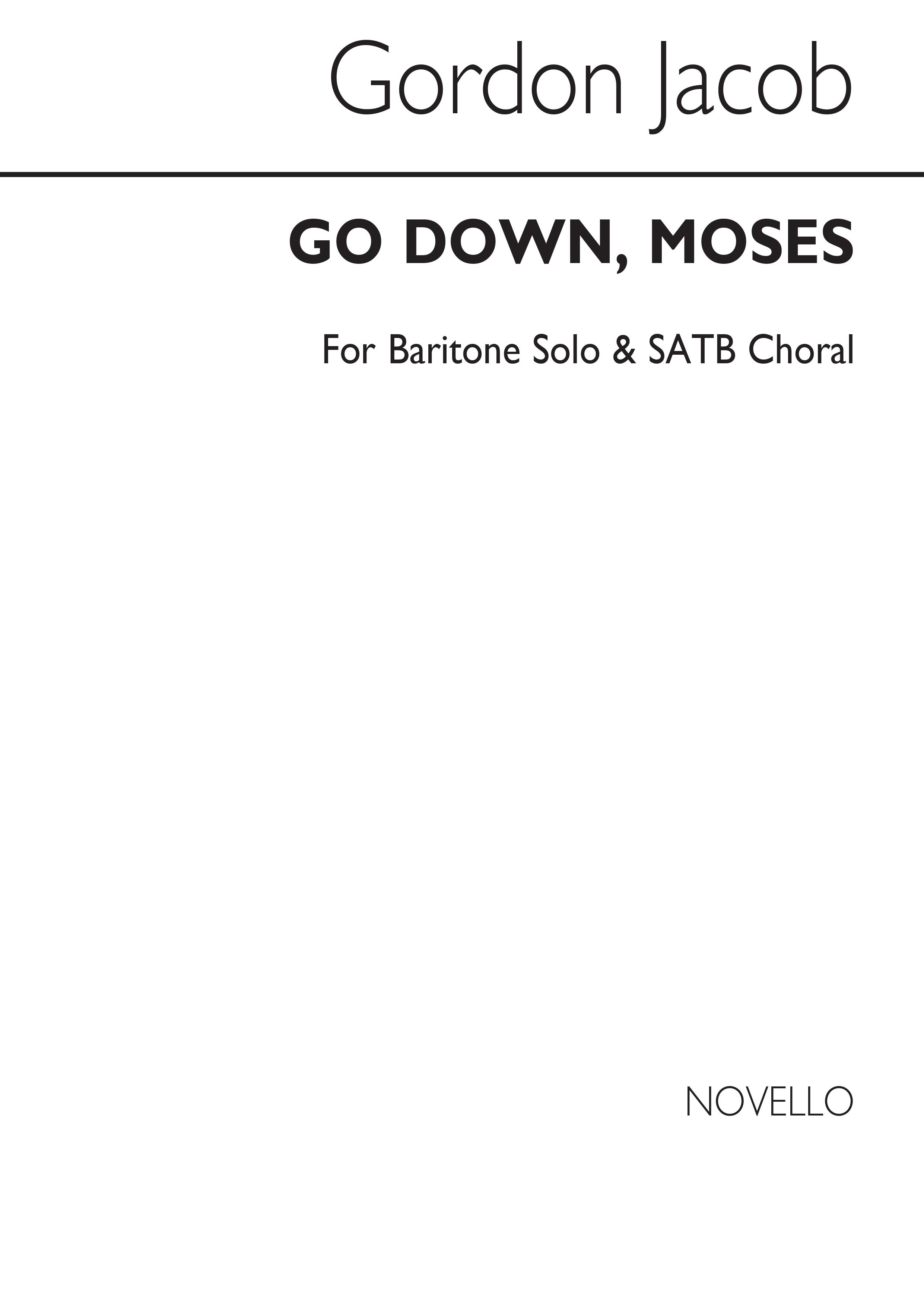 Gordon Jacob: Go Down  Moses: SATB: Vocal Score