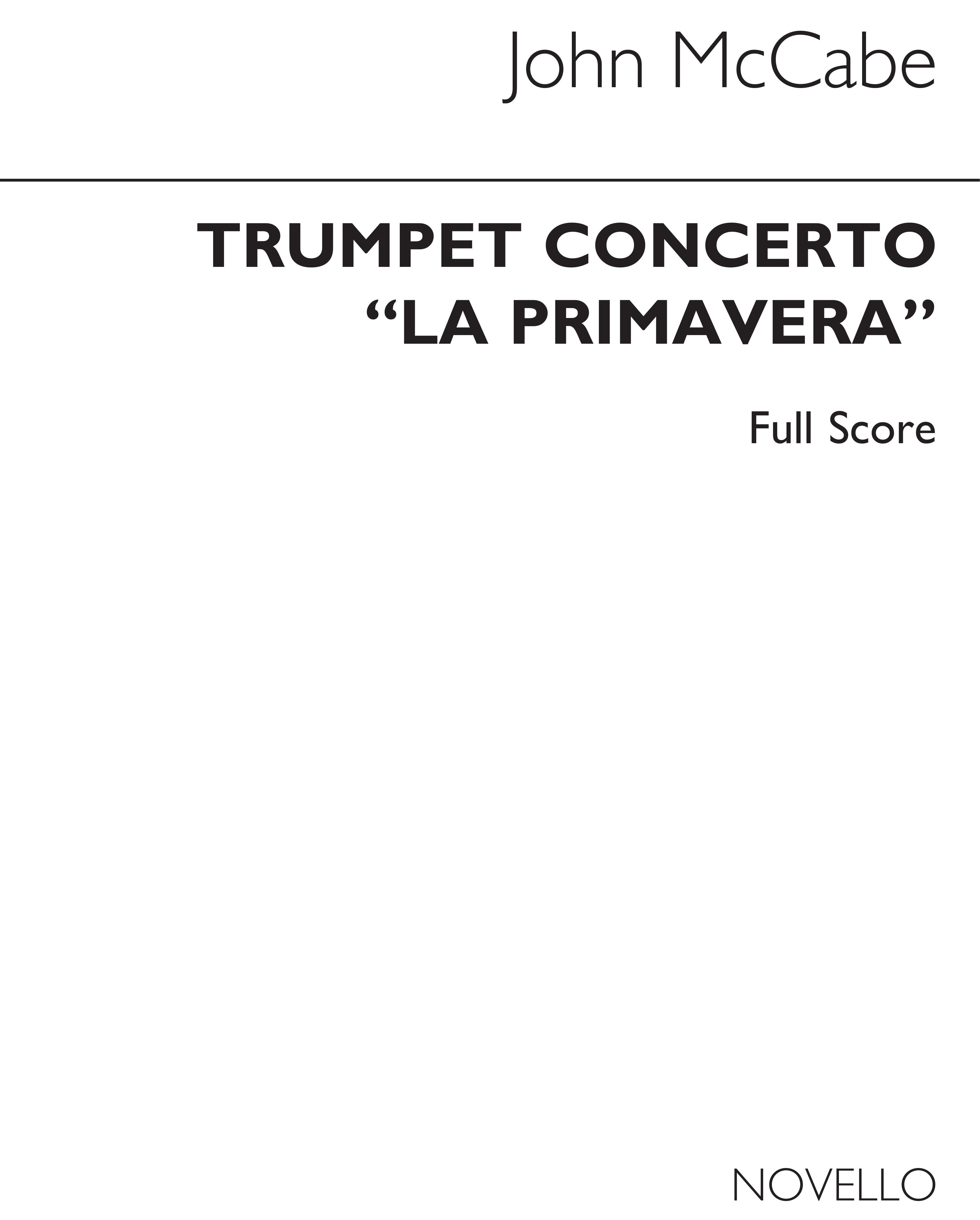 John McCabe: Trumpet Concerto 'La Primavera': Trumpet: Score