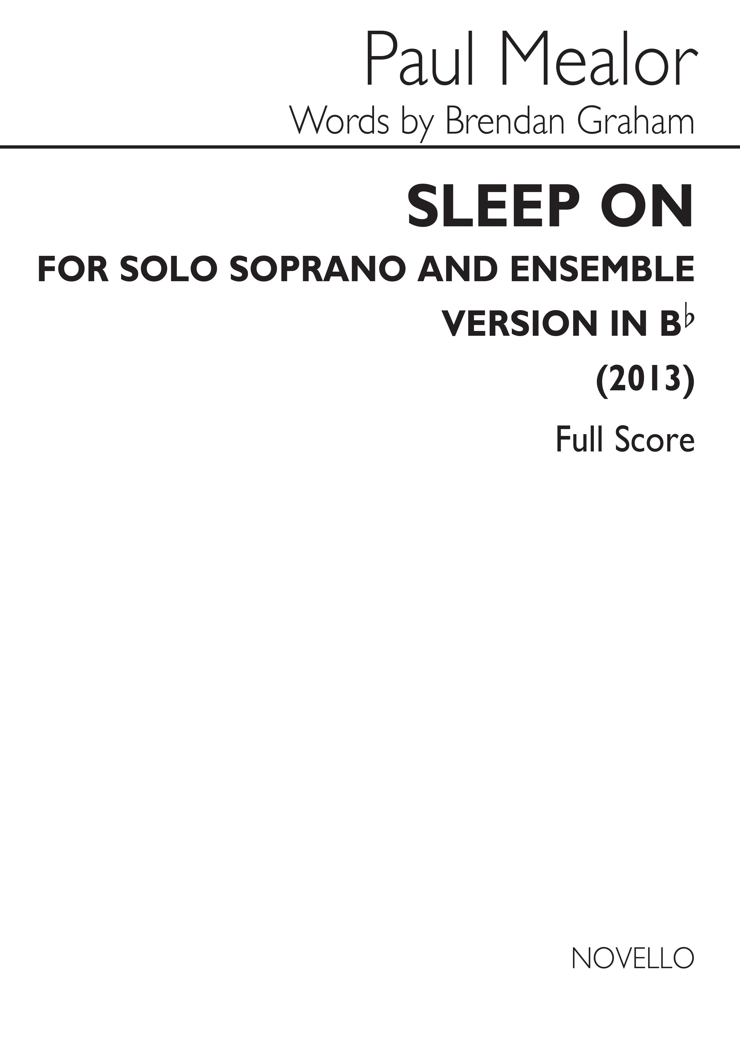 Paul Mealor: Sleep On (In B-Flat): Soprano: Vocal Work
