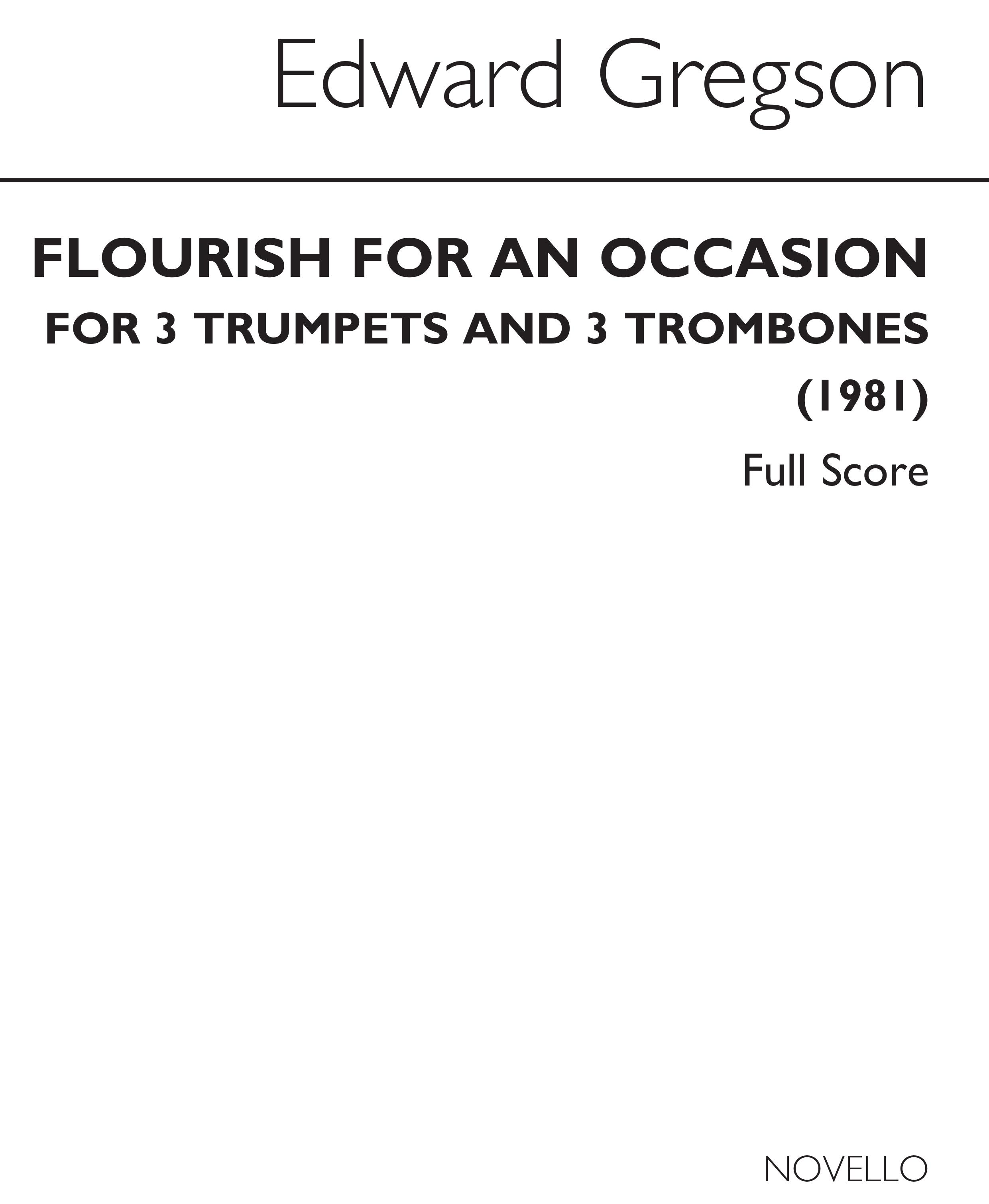 Edward Gregson: Flourish For An Occasion: Mixed Duet: Instrumental Work