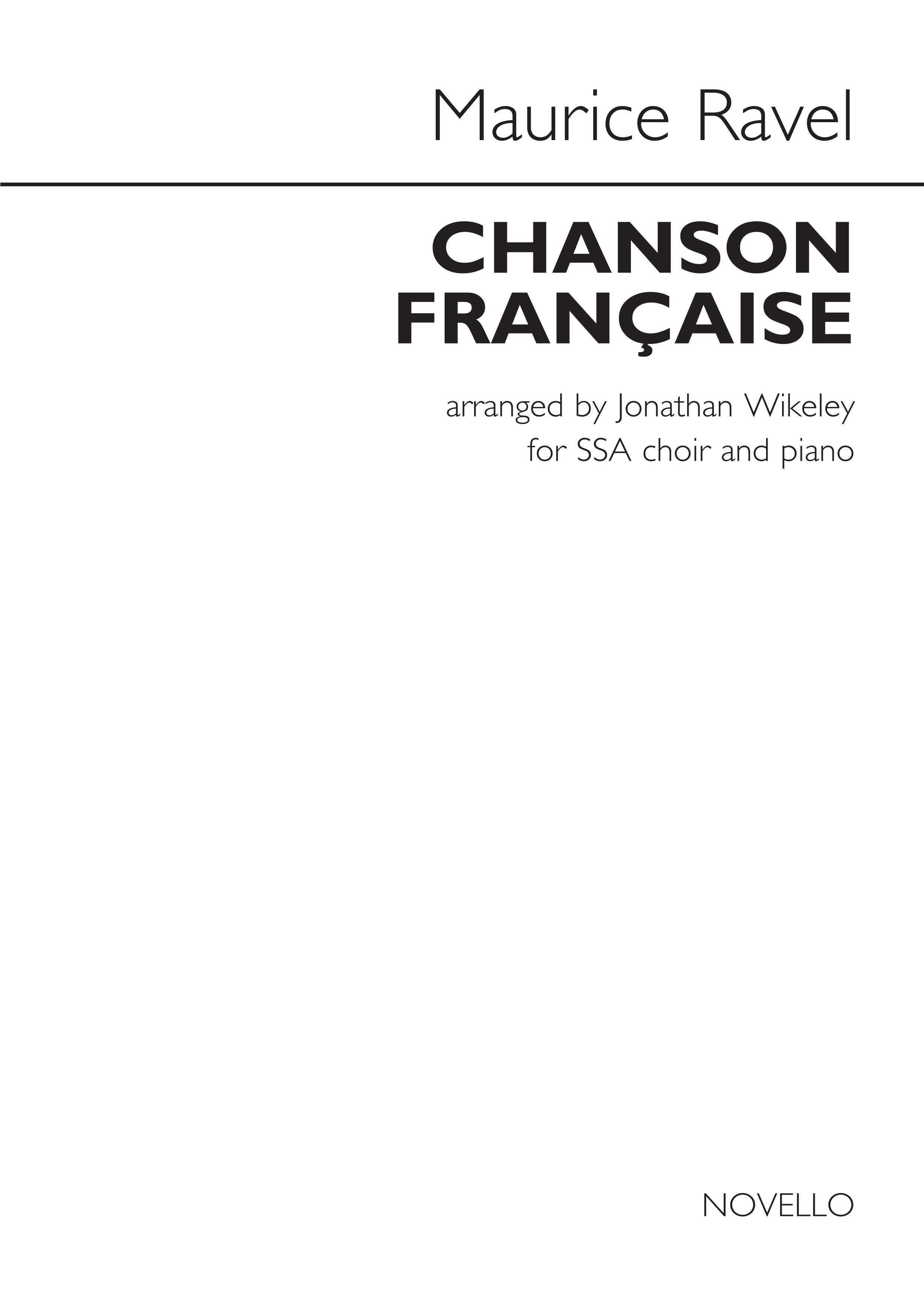Maurice Ravel: Chanson Française: SATB: Vocal Score