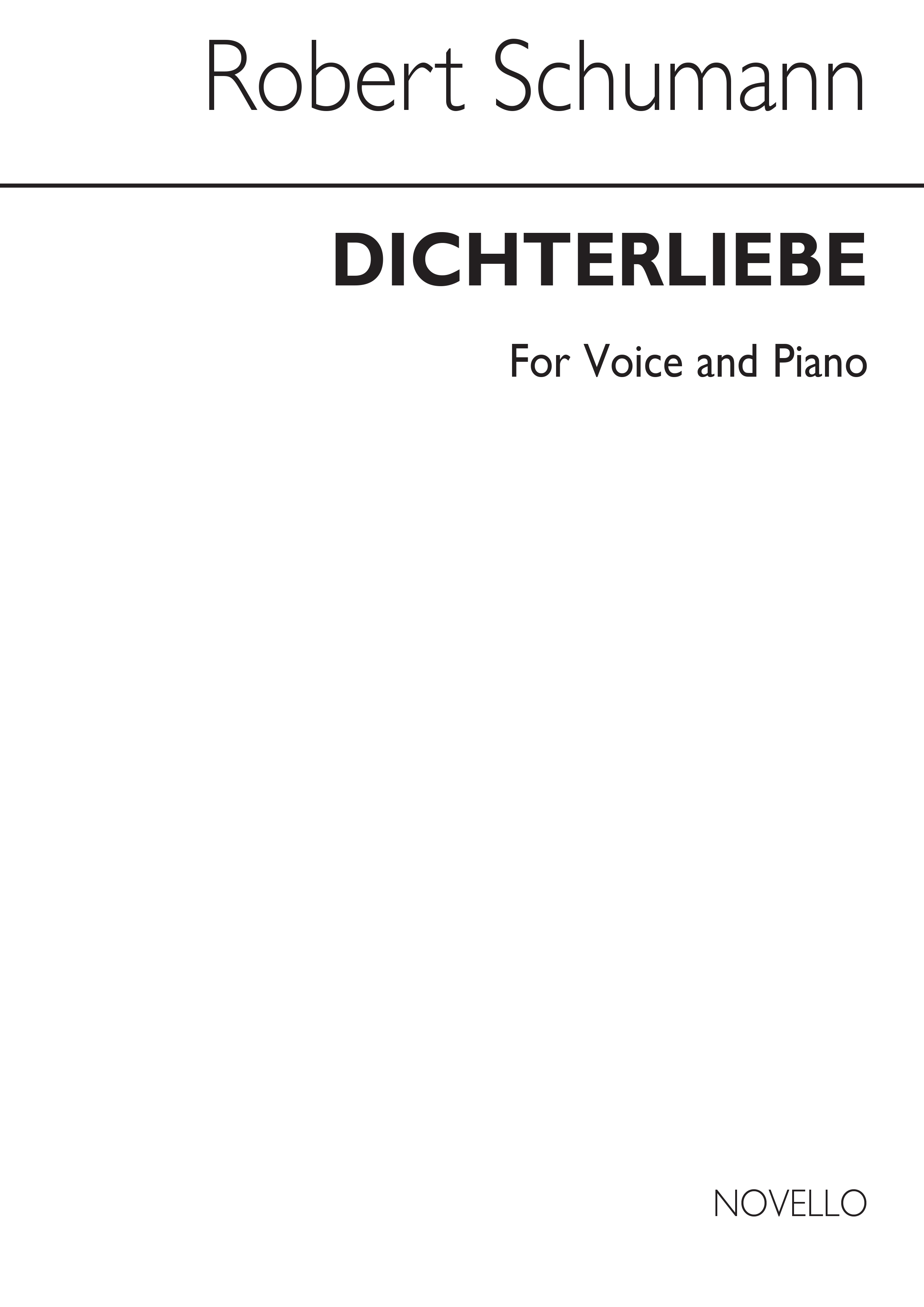 Robert Schumann: Dichterliebe Song Cycle (Medium/High Voice): Medium Voice:
