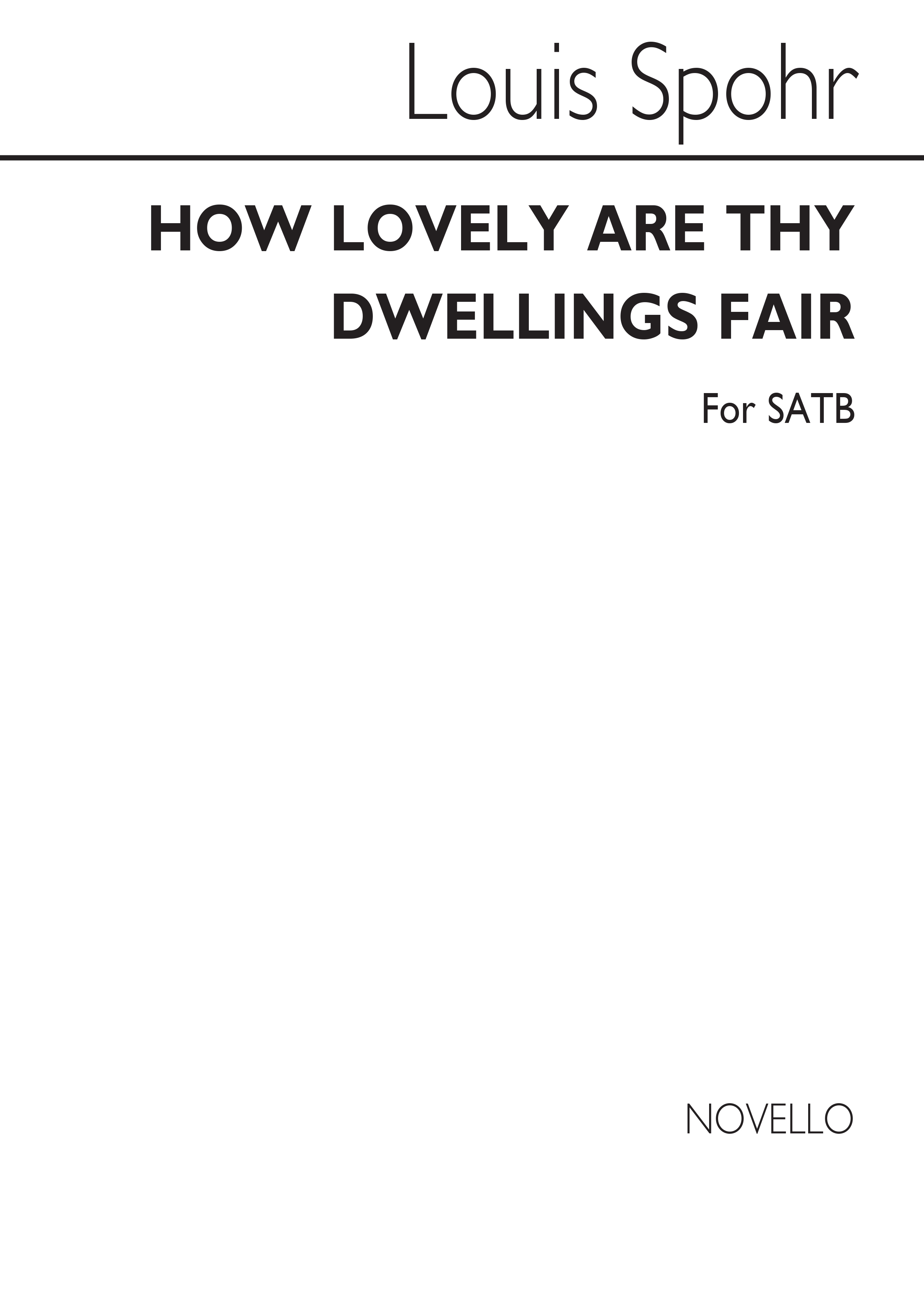 Louis Spohr: How Lovely Are They: SATB: Vocal Score