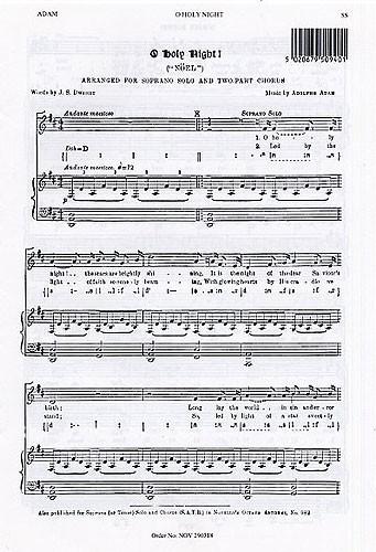 Adolphe Charles Adam: O Holy Night (Soprano Solo): Soprano: Vocal Score