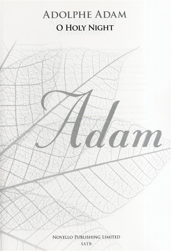 Adolphe Charles Adam: O Holy Night - SATB (New Engraving): SATB: Vocal Score