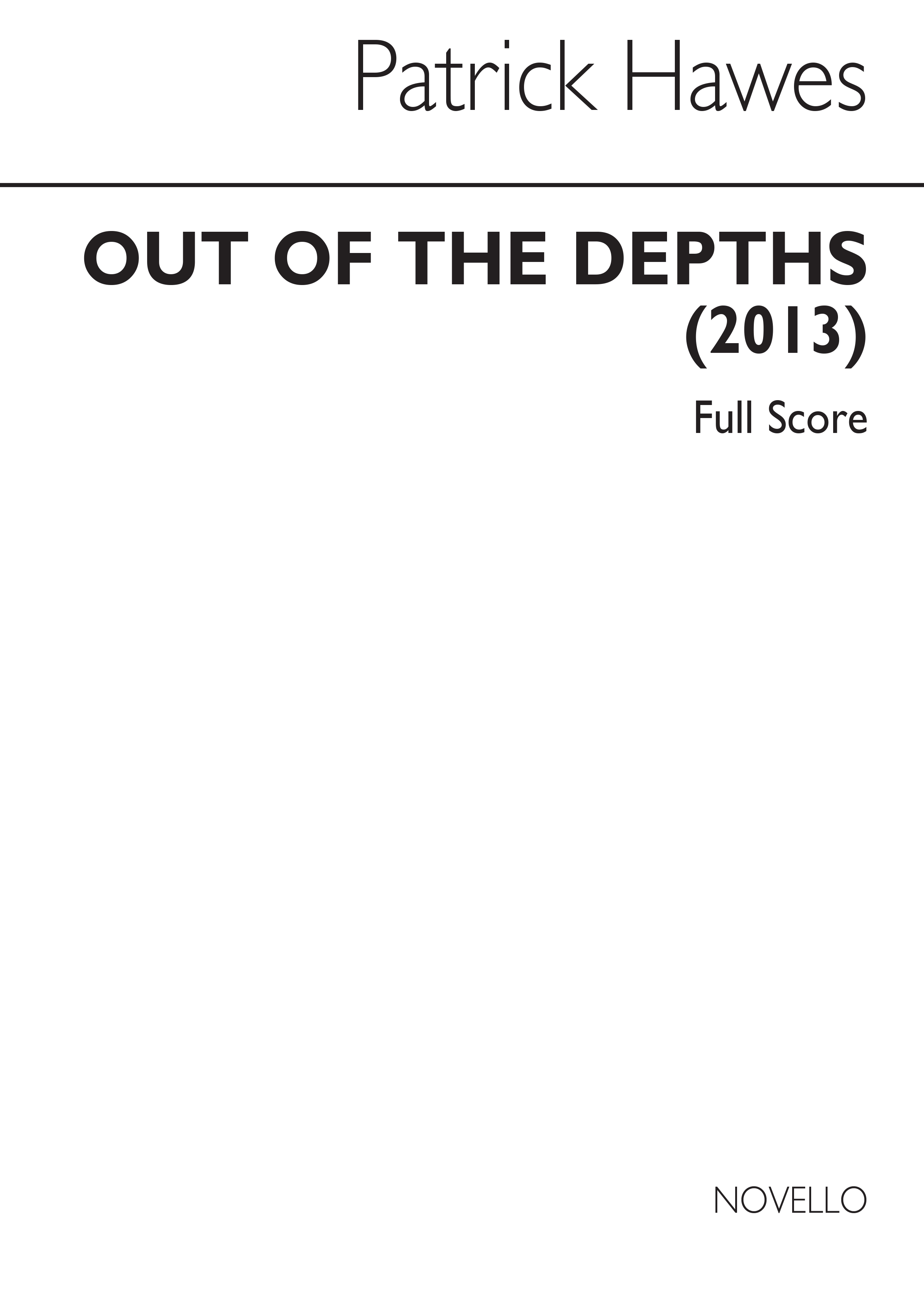 Patrick Hawes: Out Of The Depths: Soprano & SATB: Score