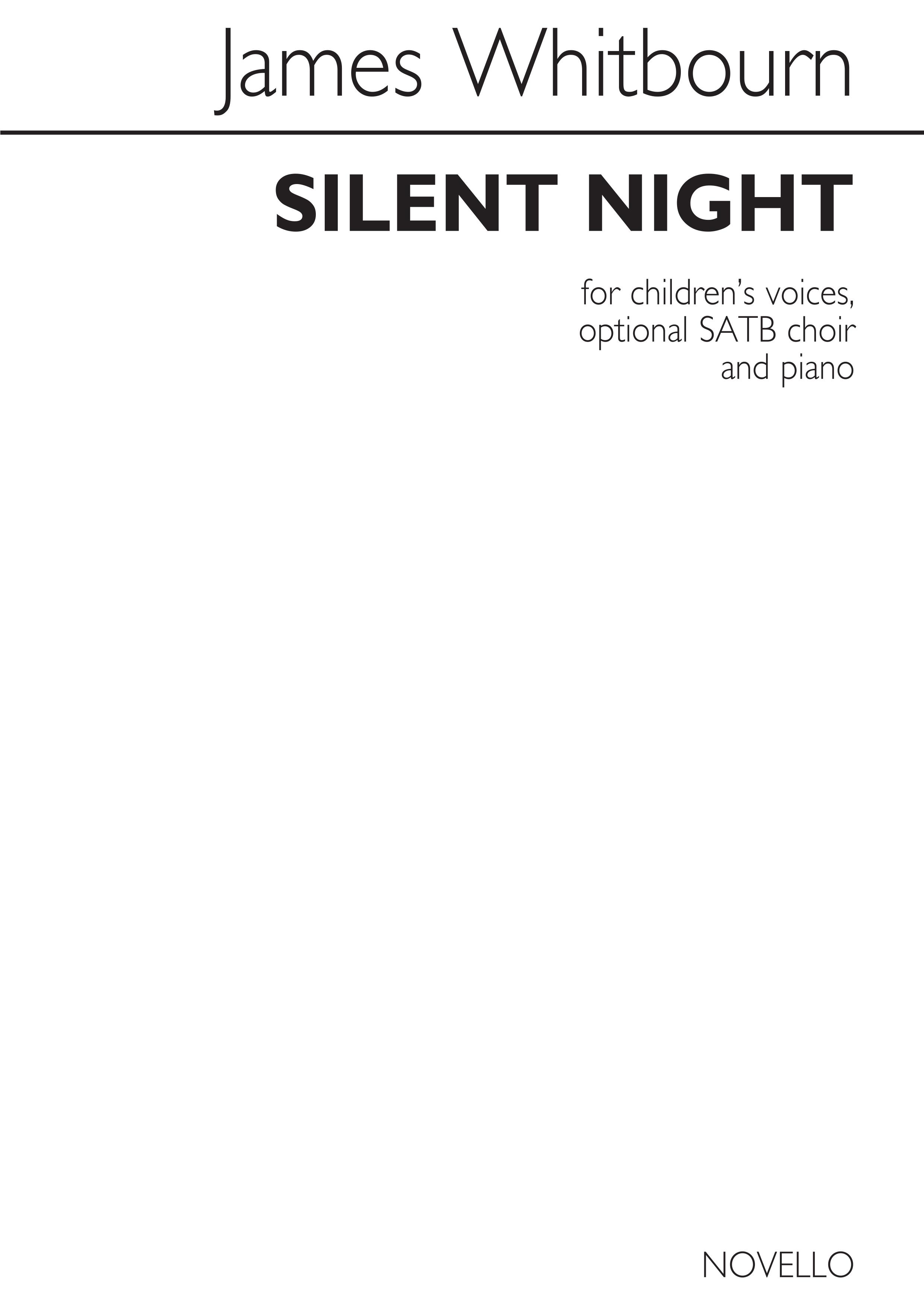 James Whitbourn: Silent Night: SATB: Vocal Score