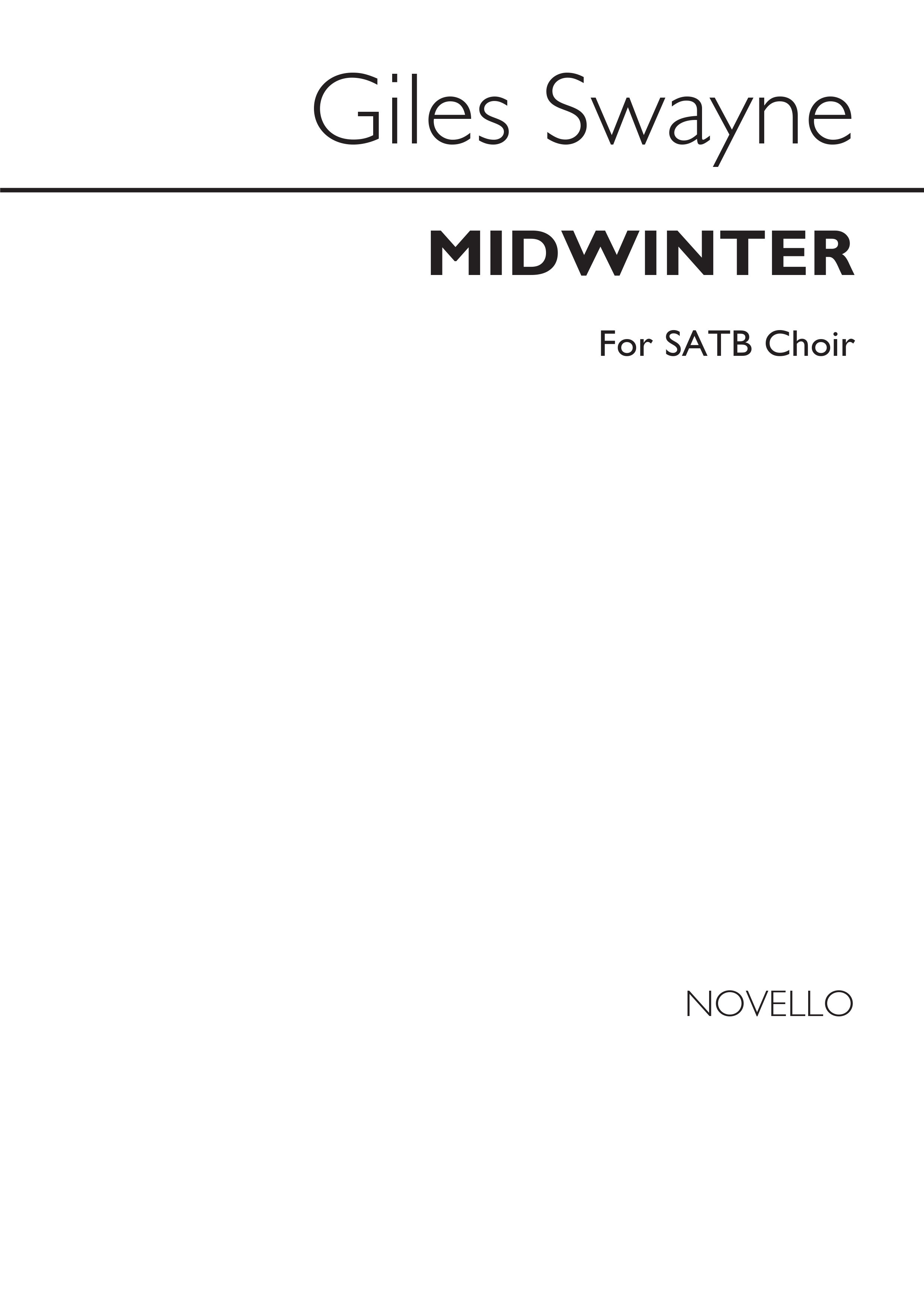 Giles Swayne: Midwinter: SATB: Vocal Score