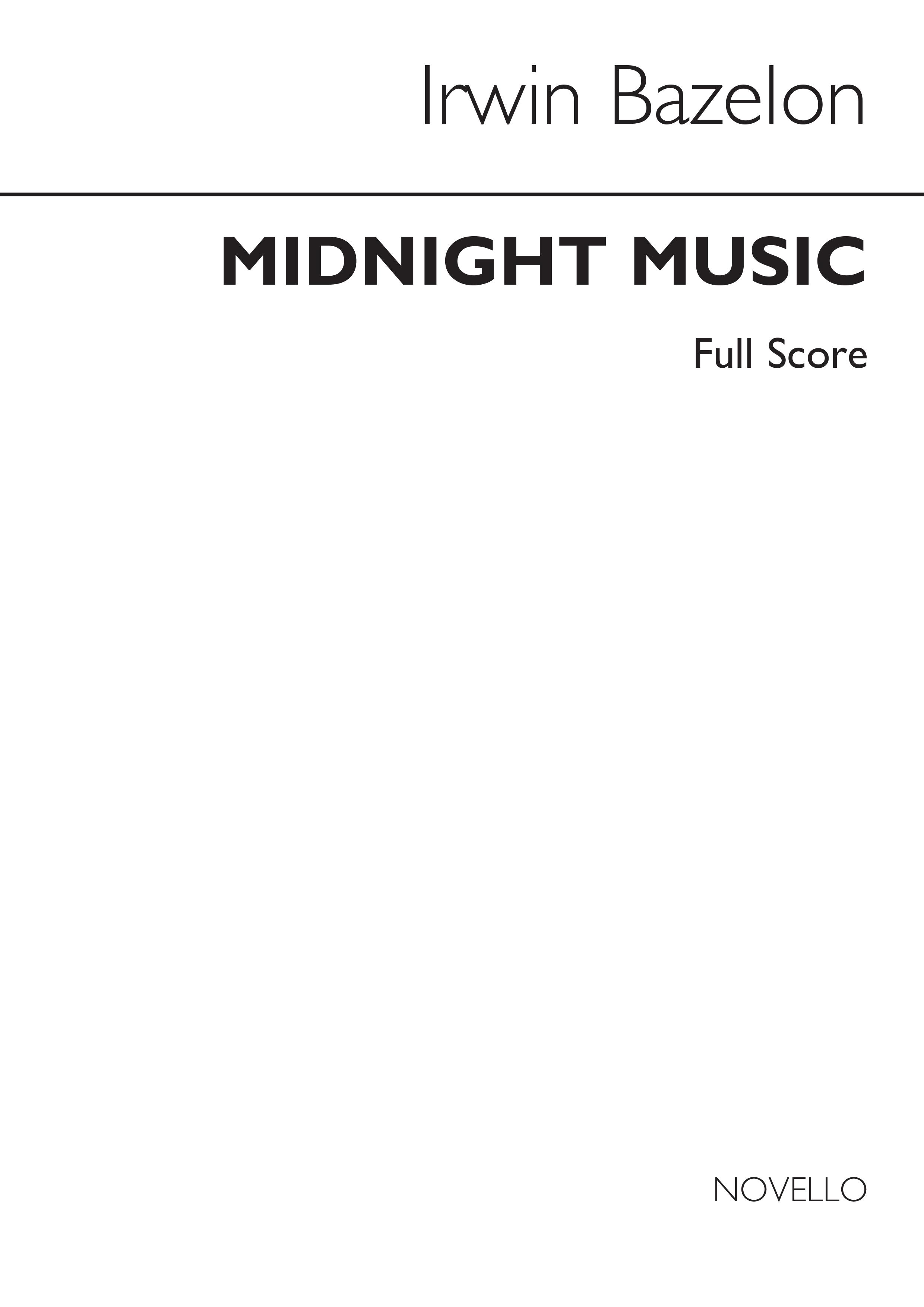 Irwin Bazelon: Midnight Music For Symphonic Wind Band: Wind Ensemble: Score
