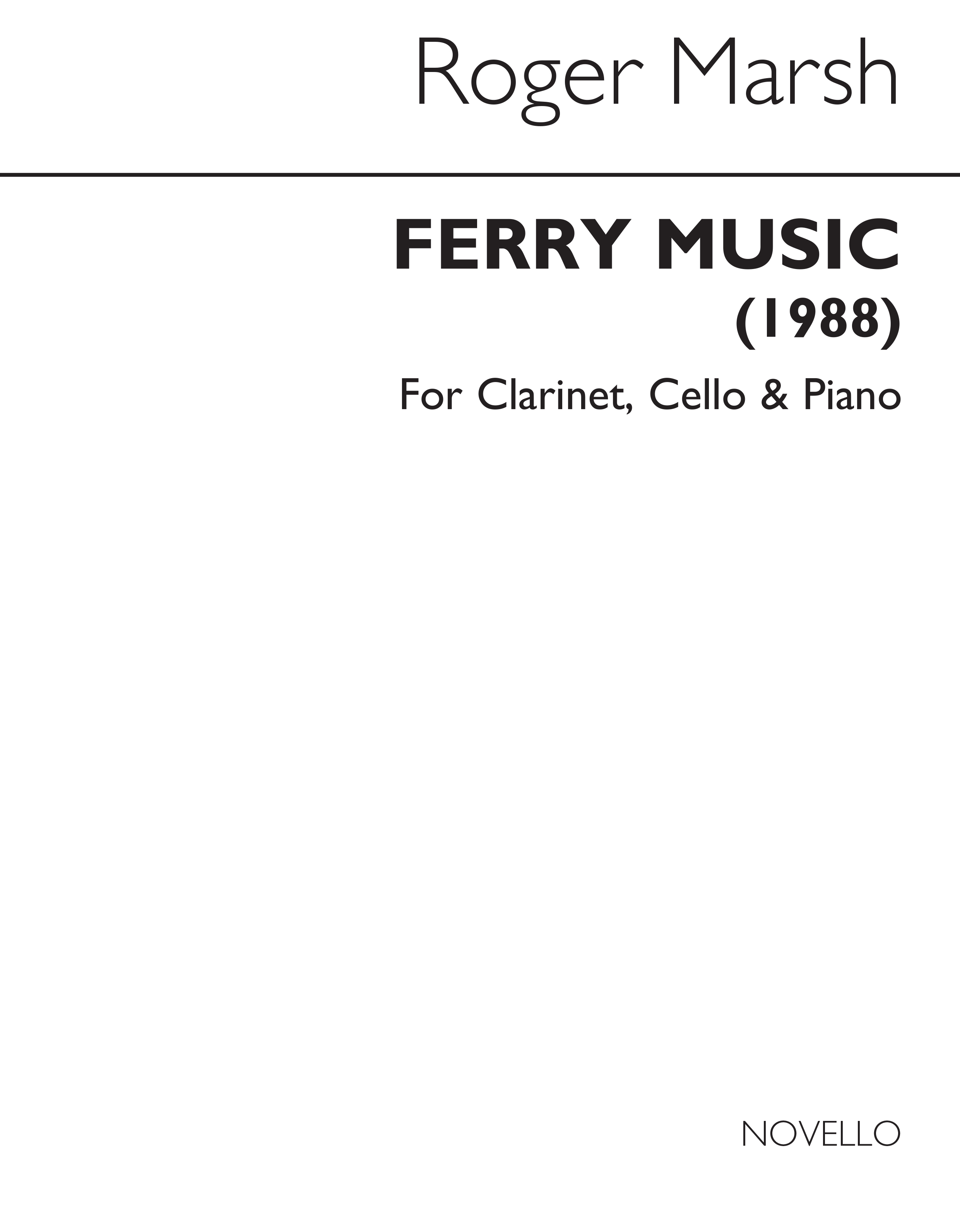 Roger Marsh: Ferry Music: Chamber Ensemble: Score and Parts